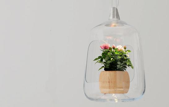 Lampa z doniczką