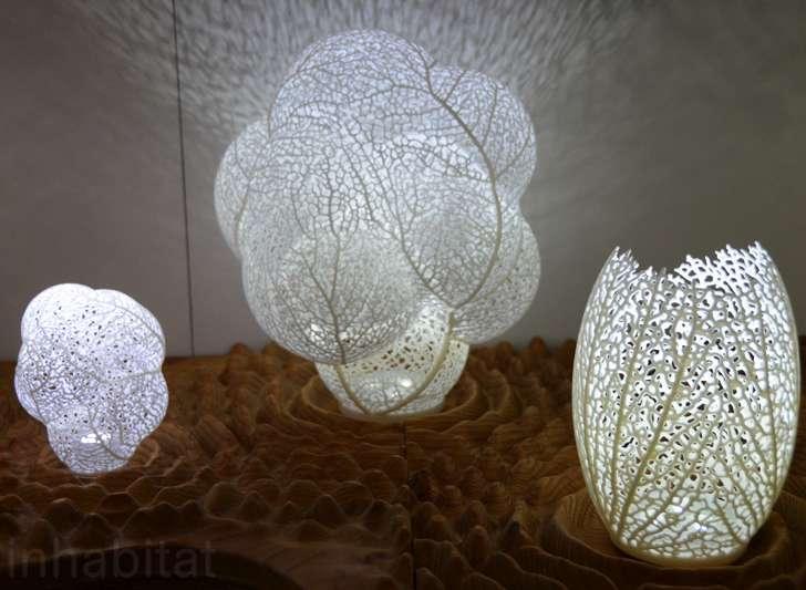 druk 3d - biomorficzne lampy