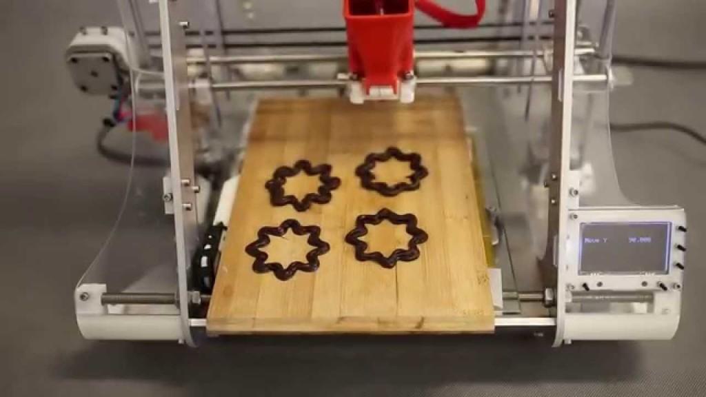 druk 3d -czekolada z drukarki 3d