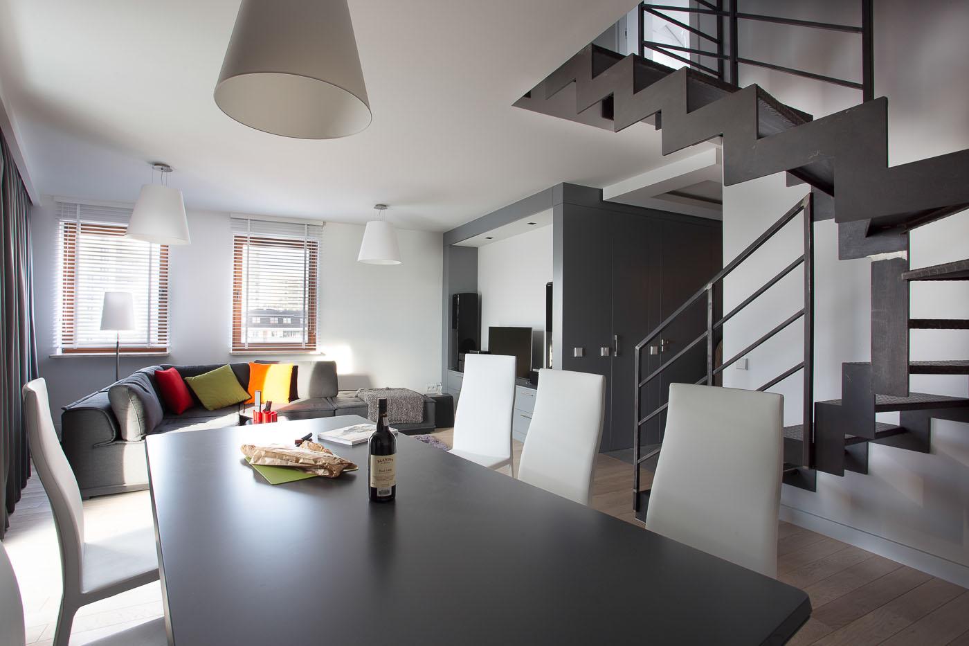 projekt Jacek Tryc -wnętrza; apartament Warszawa Gocław