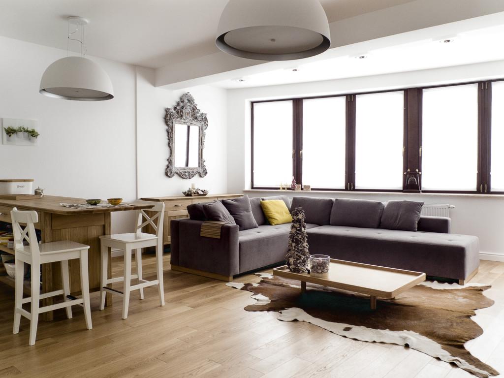 SOFA SWING. Apartament Zakopane. Proj. Jacek Tryc Foto: Marcin Tryc