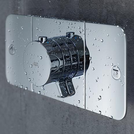 Axor One/Hansgrohe Moduł termostatyczny do 2 odbiorników. Foto źródło: mat. prasowe- Hansgrohe Polska.