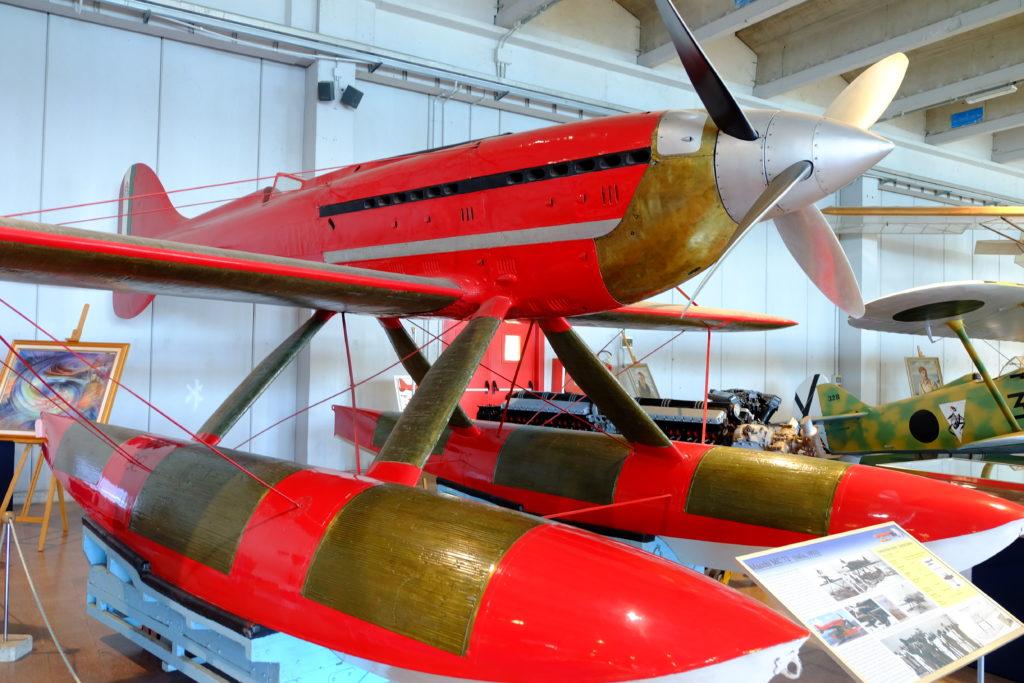 design mc 72 fiat mustang vigna di valle Museo Strico Aeronautica Militare wdonosamolot puchar schnaidera ittally włochy italia muzeum prowincja jednopłatowiec