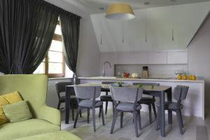 @tryc.pl projektowanie wnętrz warszawa Sopot pastelowa kuchnia meble kuchenne architekt wnętrz pastelowe kolory kolory w kuchni