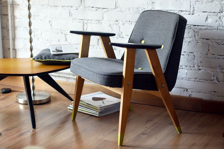 fotel chierowskiego, fotel 366, stare meble, polski design, ładny fotel