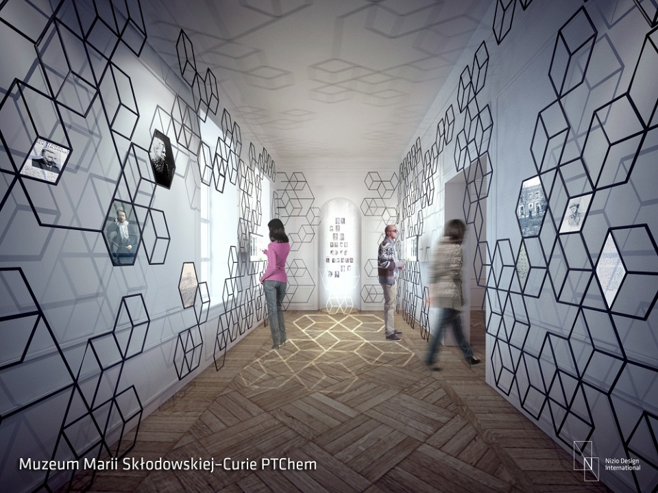 projekt muzeum marii curie Skłodowskiej Nizio Design International Warszawa architekt projektowanie