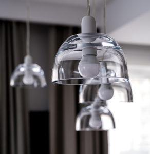 lampy, przeźroczyste lampy, eleganckie lampy, lampy do kuchni, aranżacja wnętrz, projektowanie wnętrz, architekt wnętrz Warszawa Jacek Tryc