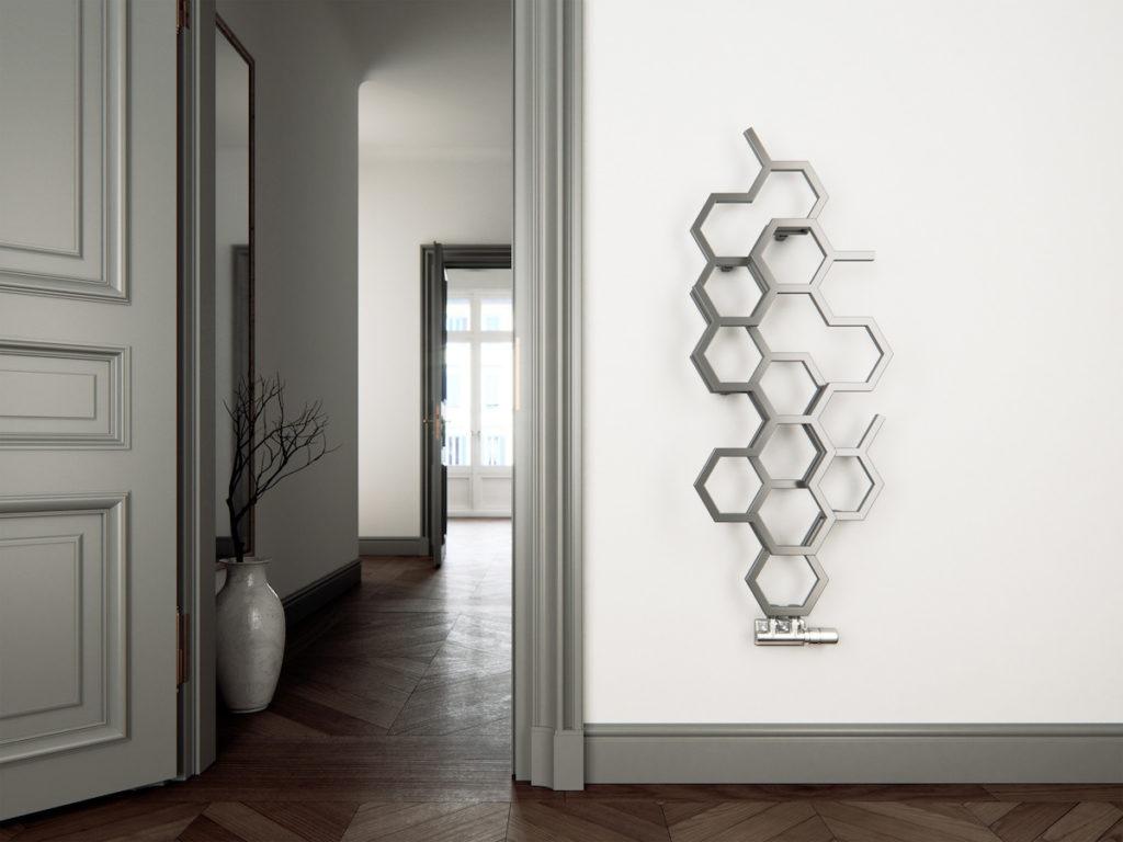 grzejnik hexagon Jacek Tryc architekt wnętrz projektowanie wnętrz aranżacja wnętrz ozdobny grzejnik must have ogrzewanie terma