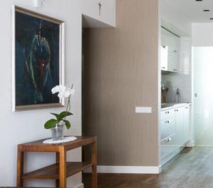 stolik art deco nowoczesne wnętrza shabby chic styl korytarz meble stare apartament Mokotów dom w kamienicy