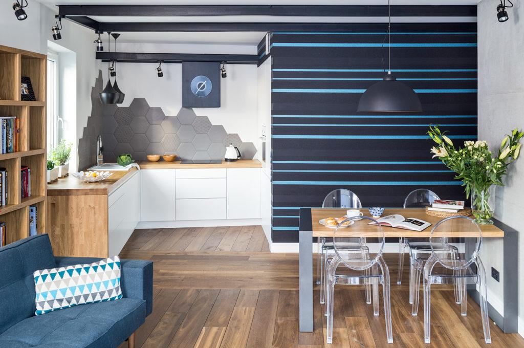 piękne mieszkanie salon w bloku projekt architekt wnętrz Jacek Tryc