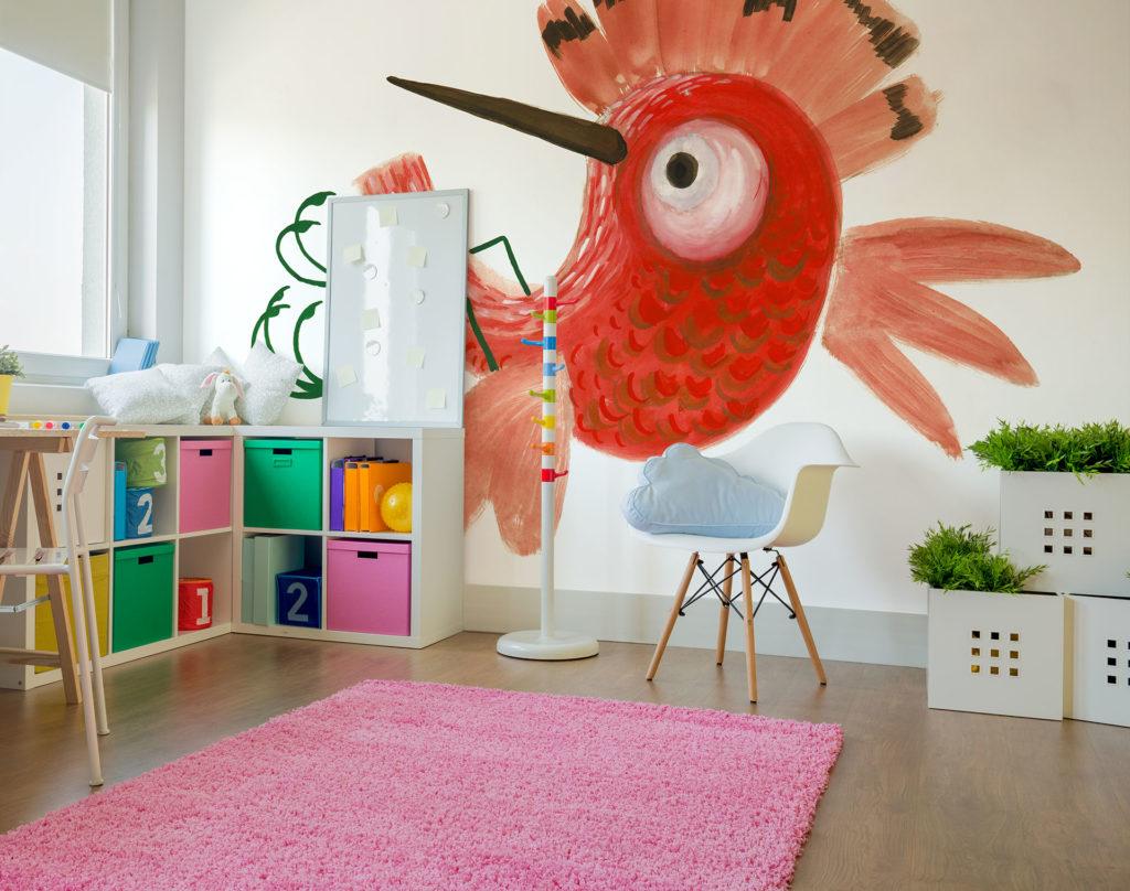 grafika pokój dziecka kolorow atapeta tapeta ściana ozdobiona tapetą Franciszek Michałek FREZo wall paper tapeta pokój dziecka