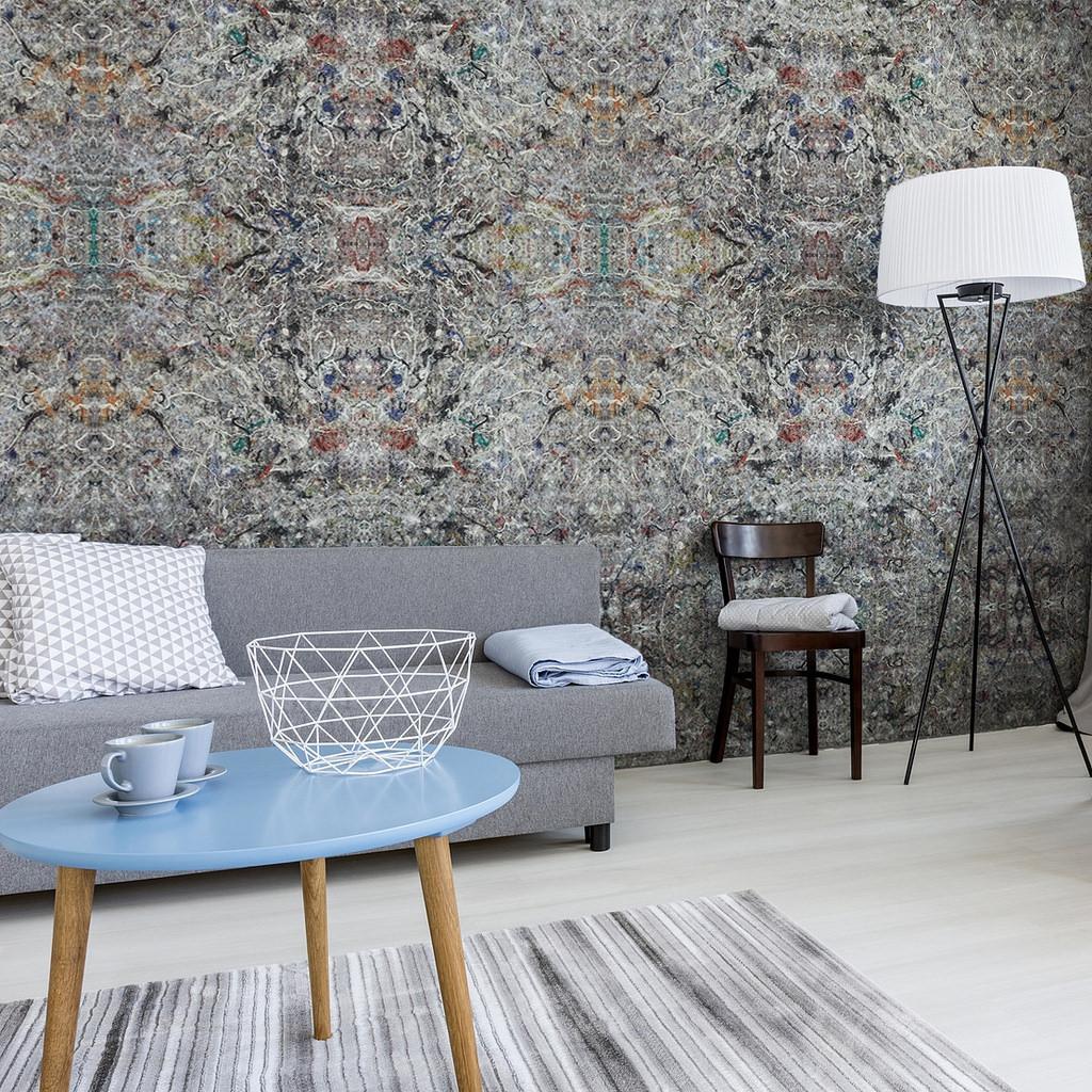 tapeta flizelinowe ozdobne ściany tapeta z materiału tapeta z filcu szare na ścinę
