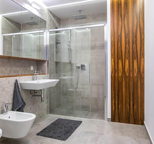 nowoczesna łazienka ładna łazienka funkcjonalne łazienka łązienka z prysznicem szara łazienka dobry projketant Jacek Tryc architekt wnetrz z doświadczeniem najładniejsze łazienki projektuje Jacek Tryc architekt wnętrz