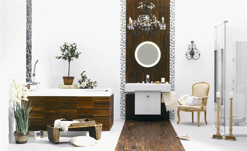 klasyczna łązienka łązienka z drewnem romantyczna łązienka salon kąpielowe kwaiaty w łazience łazienka księżniczki fotel w łazience projektowanie wnętrz aranżacja wnetrz Warszawa szukam architekta wnętrz