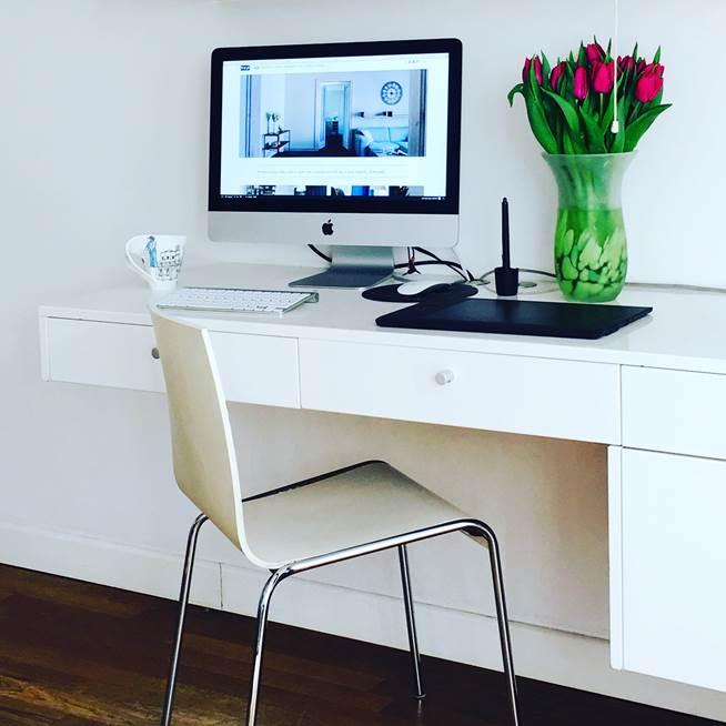 czytsy dom biurko z szufladami pracownia projektowania wnętrz i mebli Jacek Tryc