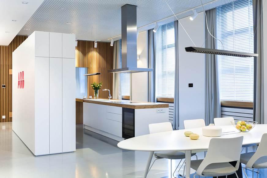inteligent dom pokazowy apartament ABB luksusowy apartament nowoczesne wnętrza autorska pracownia projektowania wnętrz i mebli Architekt Jacek Tryc