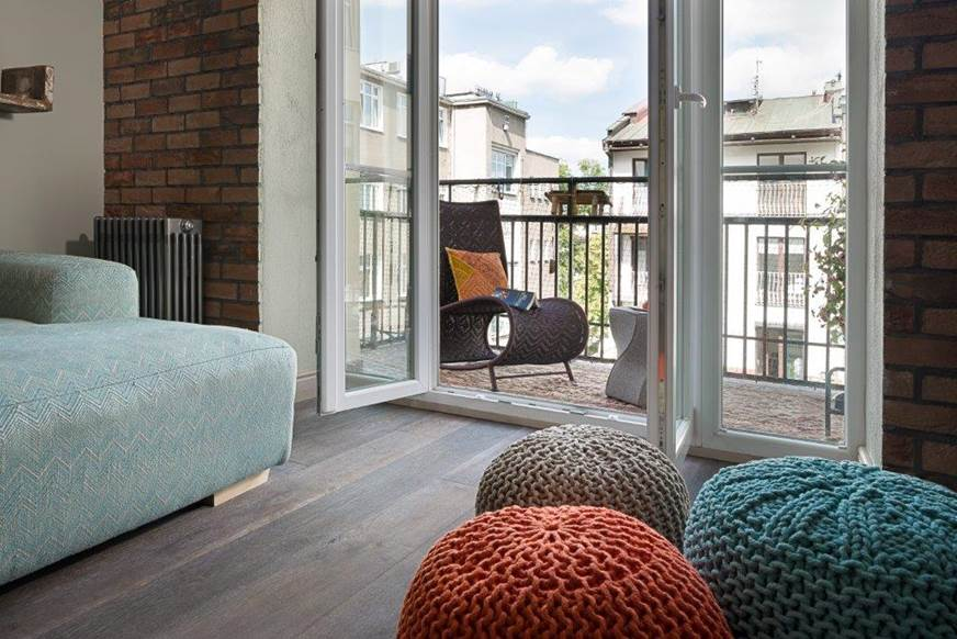 urządzamy balkon w mieście Apartament w starej Kamienicy Apartament Warszawa Mokotów