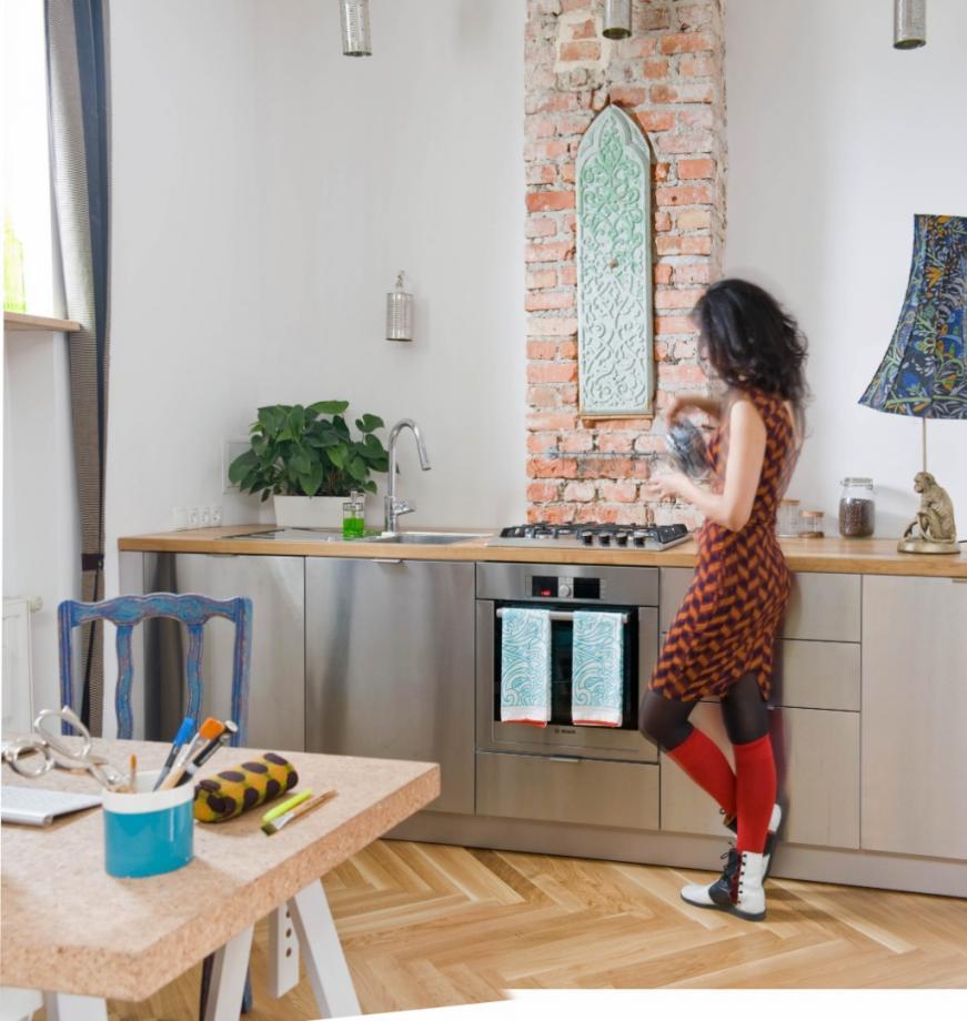 nowoczesna kuchnia Chi-Chi Ude mieszkanie Centrum Warszawy afrykańska księżniczka w Polsce architekt wnętrz Warszawa meble na wymiar