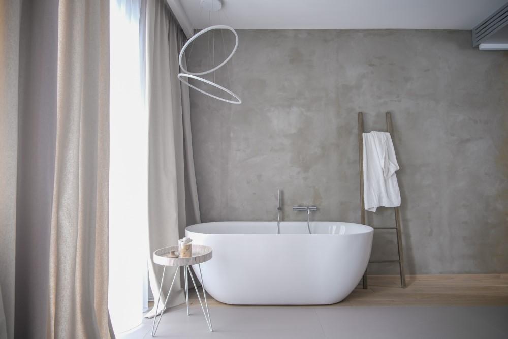 salon kąpielowy wanna wolnostojąca aranżacja wnętrz Warszawa Jacek Tryc