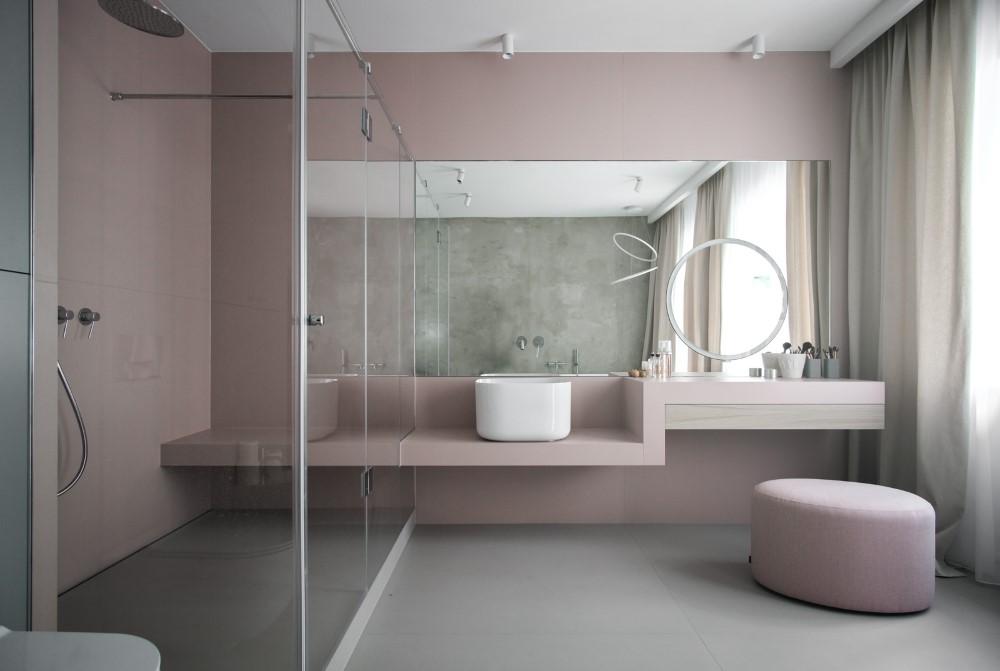 salon kąpielowy kobieca łazienka toaletka
