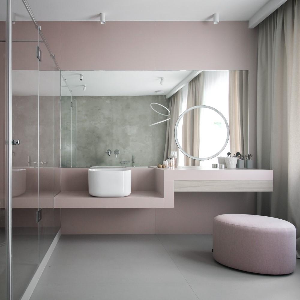 lustro łazienkowe okrągłe lustro piękna łazienka kobieca łazienka