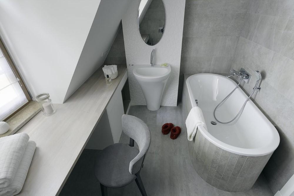 lustro do łazienki minimalistyczne wnętrza